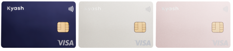 Kyash Cardのデザインは3種類